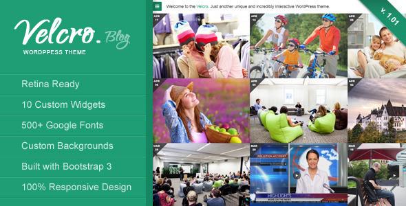 Velcro - Retina Responsive WordPress Theme - Personal Blog / Magazine