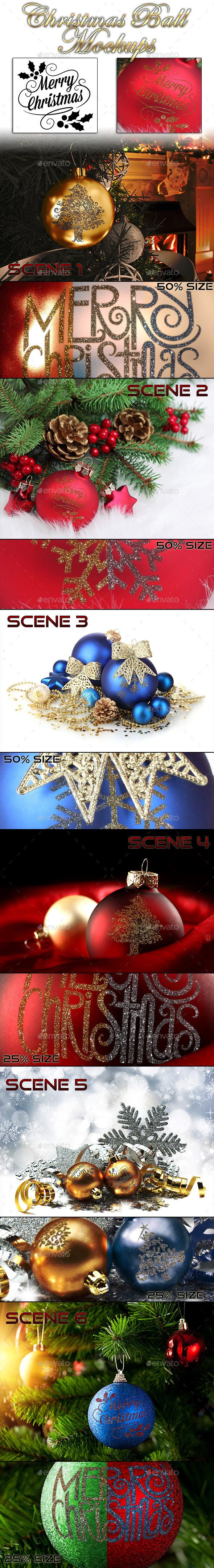 GraphicRiver Christmas Ball Mockups 9866659