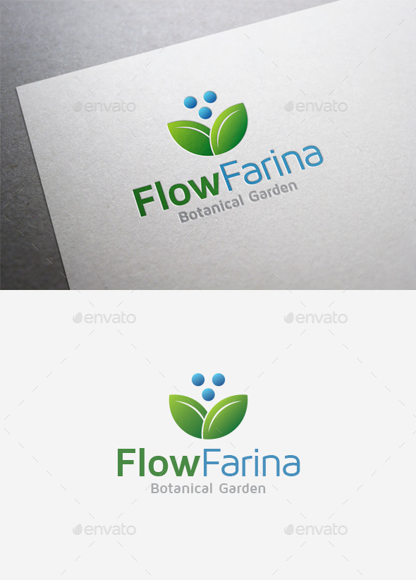 GraphicRiver Flower Farina Logo 9849251