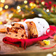 Christmas Stollen. Traditional Sweet Fruit Loaf with Icing Sugar - PhotoDune Item for Sale