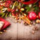 Christmas holiday table setting border design - PhotoDune Item for Sale