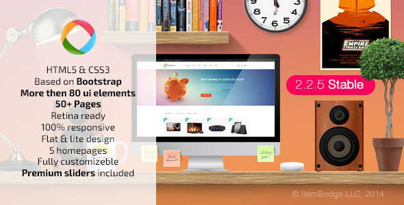 Progressive — Multipurpose Responsive Template - Corporate Site Templates
