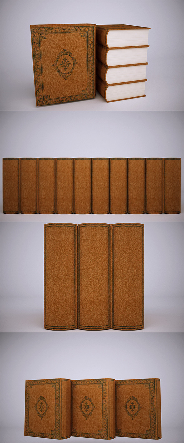 Low Poly Book (VrayC4D) - 3DOcean Item for Sale