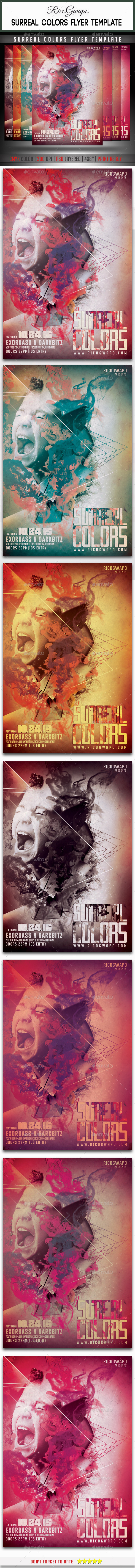 GraphicRiver Surreal Colors Flyer Template 9867176