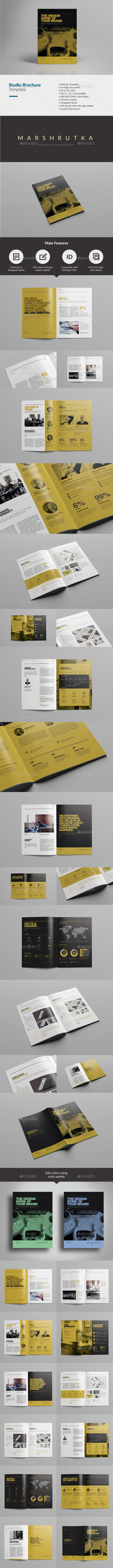 GraphicRiver Studio Brochure Template 9867177
