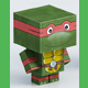 Paper toy - Turtle Ninja Red