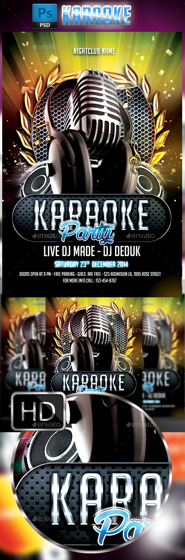 GraphicRiver Karaoke Flyer #4 9867205