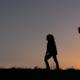 Meet Parents With Children Sunset