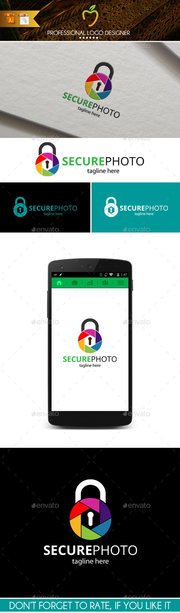 GraphicRiver Secure Photo Logo 9867765