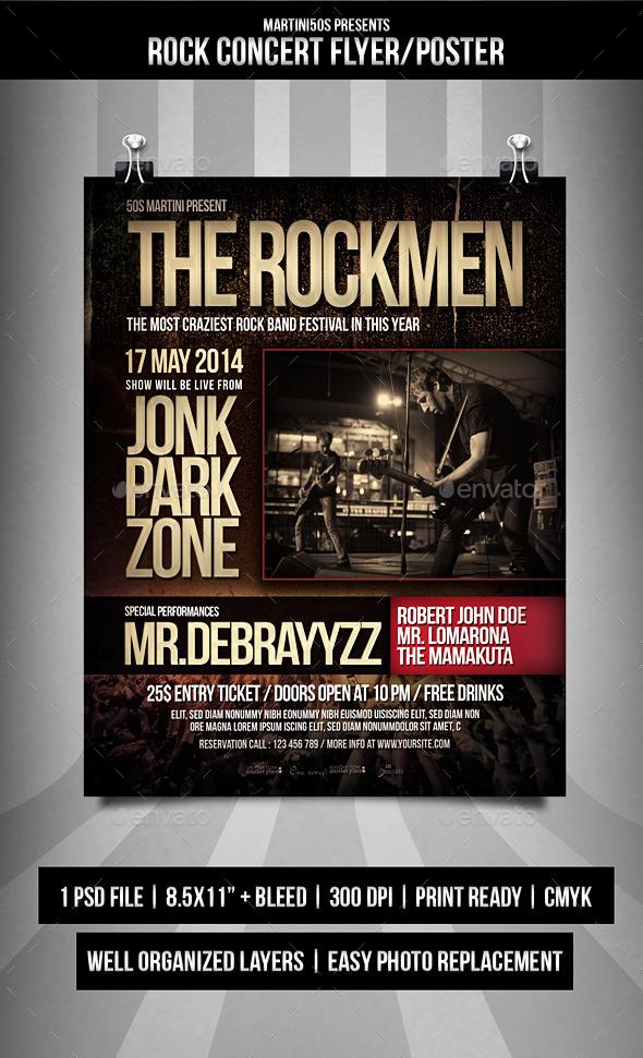 Rock Concert Flyer Templates