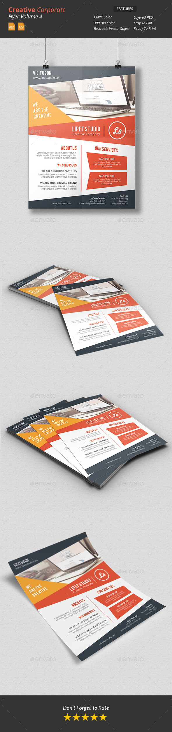GraphicRiver Creative Corporate Flyer v4 9838608
