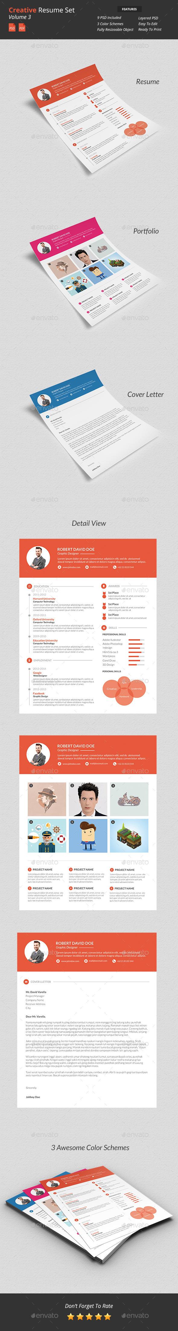 GraphicRiver Creative Resume Set v3 9867871