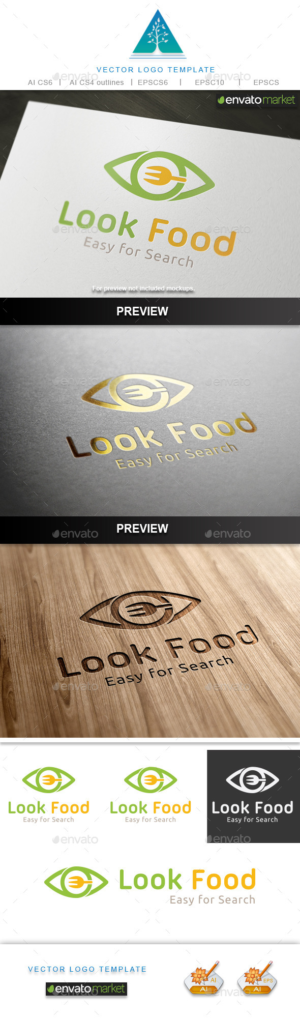 GraphicRiver Look Food Logo 9840010