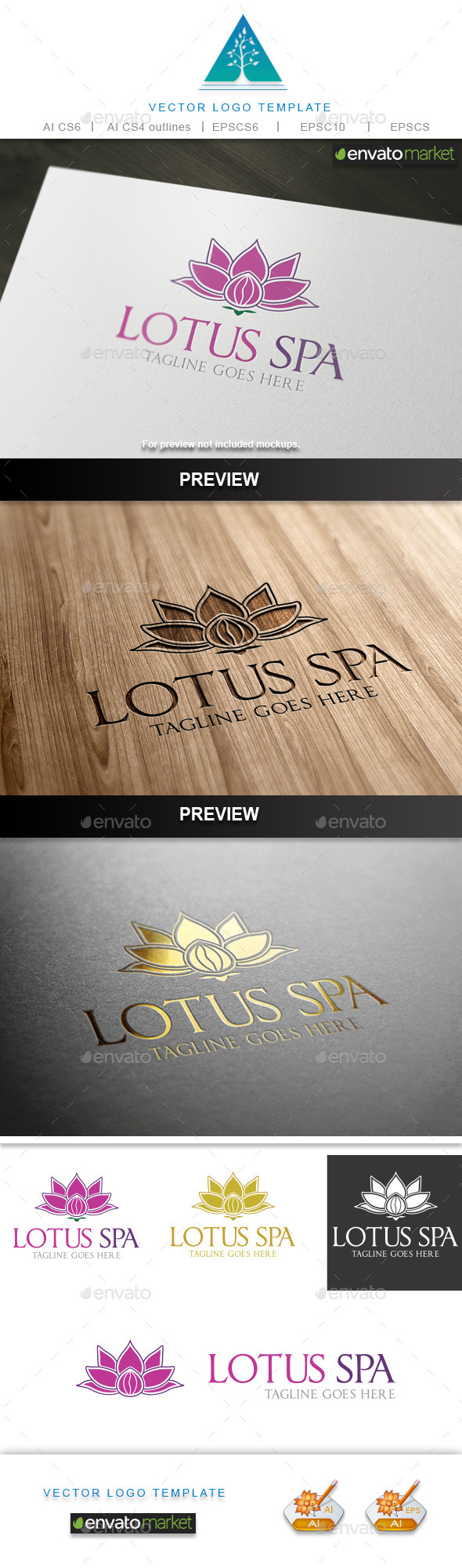 GraphicRiver Lotus Spa Logo 9868042