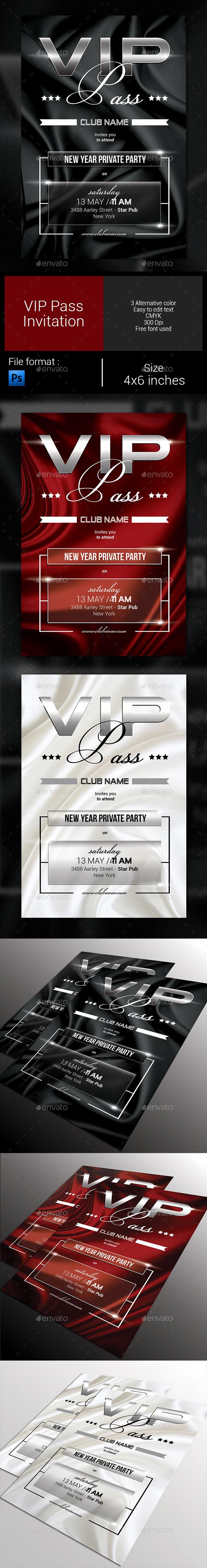 GraphicRiver VIP Pass Invitation 9868702