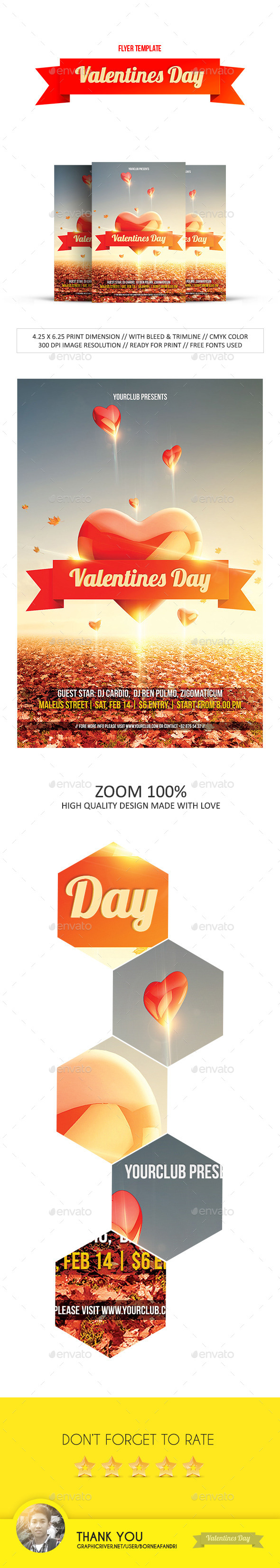 GraphicRiver Valentines Day Flyer 9836079