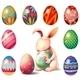 Bunny Surrounded with Easter Eggs  - GraphicRiver Item for Sale