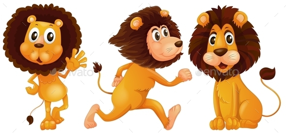 GraphicRiver Lion Set 9868770