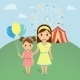 Mom with Little Daughter - GraphicRiver Item for Sale