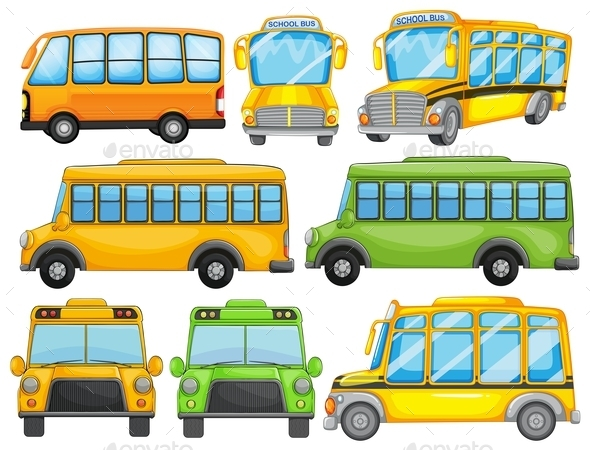 GraphicRiver School Bus 9868798
