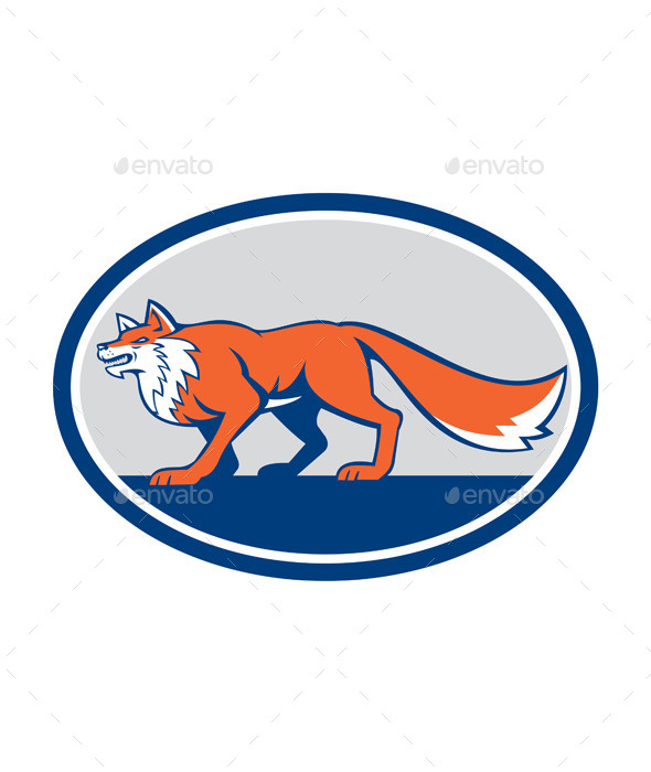 GraphicRiver Red Fox Pouncing 9868824