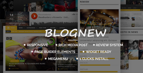 ThemeForest Blue News Wordpress Responsive Magazin Themes 7814437