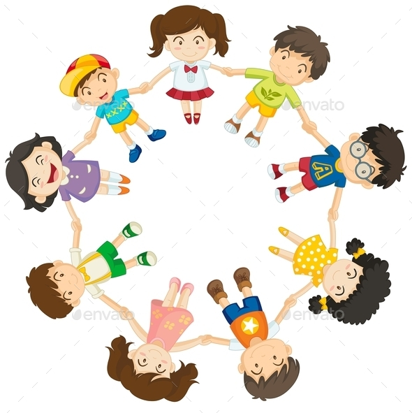 GraphicRiver Diverse Kids in a Circle 9868834