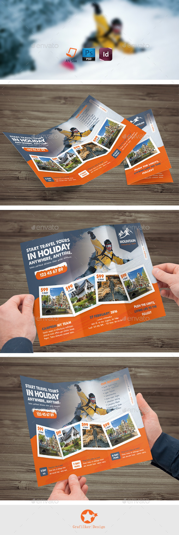 GraphicRiver Winter Tour Tri-Fold Templates 9868836