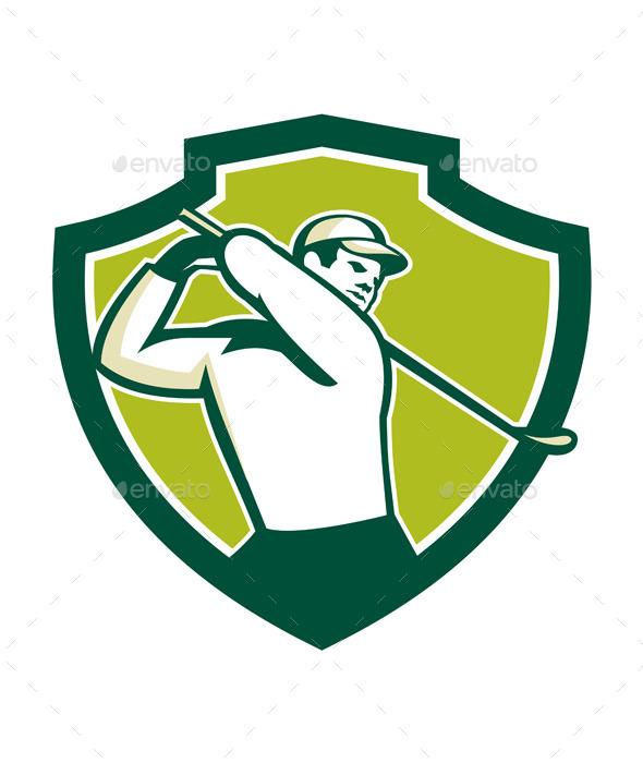 Golfer Tee Off Shield