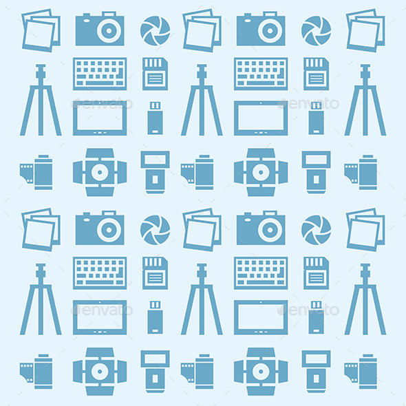GraphicRiver Photographer Pattern 9868846