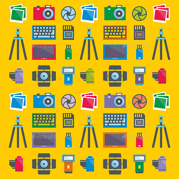 GraphicRiver Photographer Pattern 9868849
