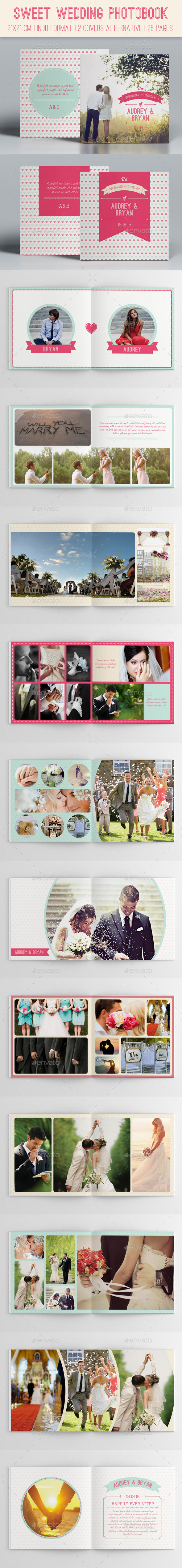 GraphicRiver Sweet Wedding Photobook 9868855
