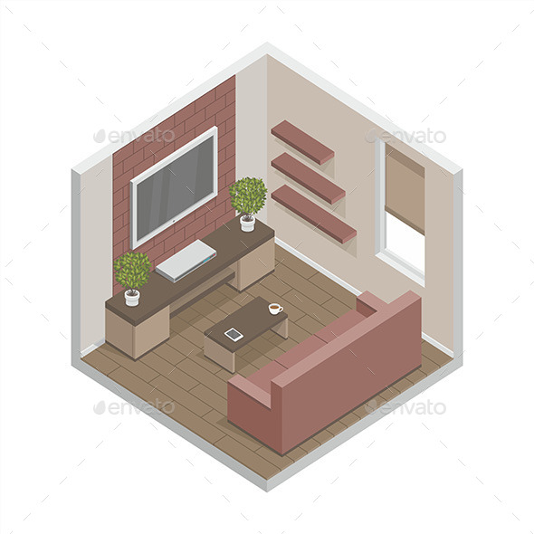 GraphicRiver Living Room 9868901