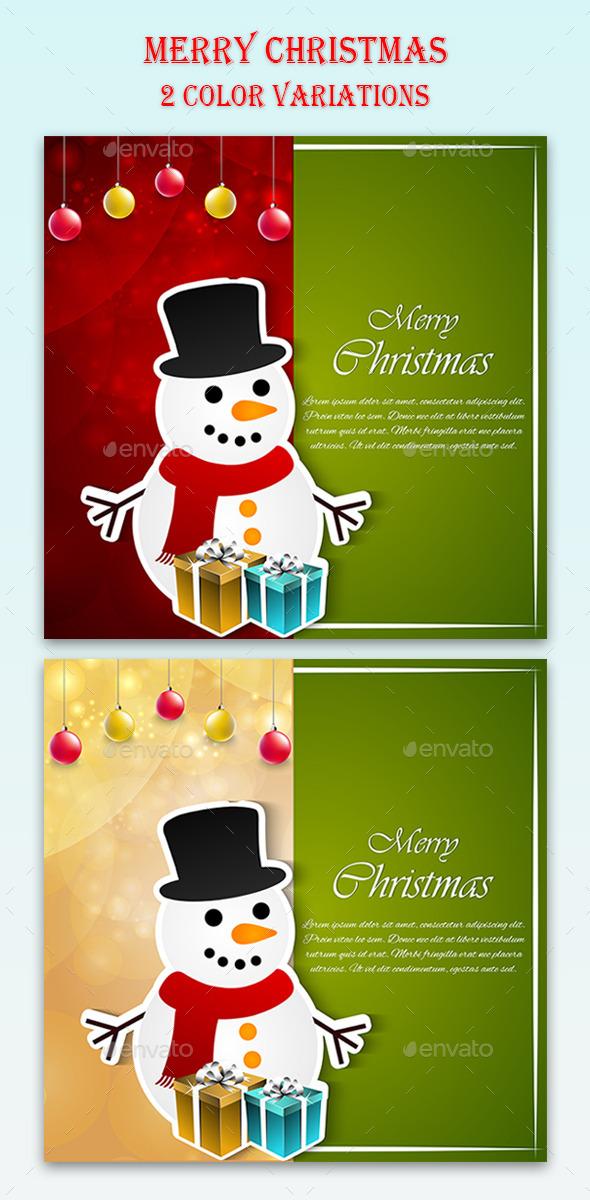 GraphicRiver Christmas Celebration Card 9852788
