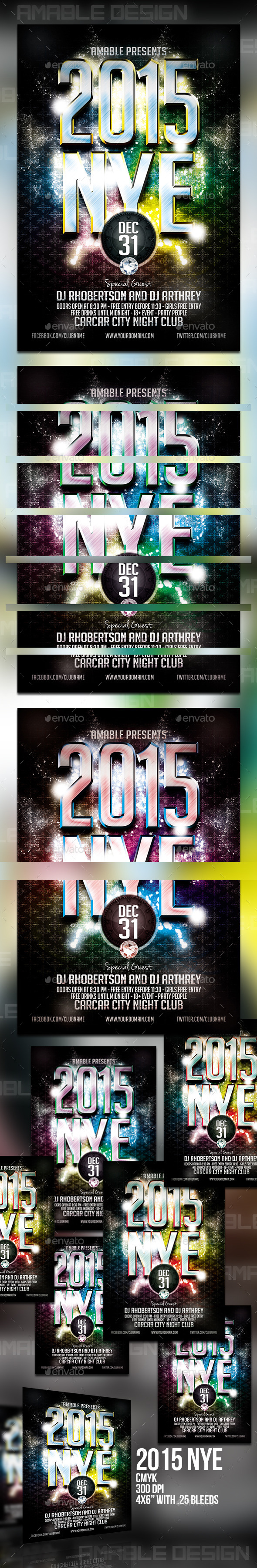 GraphicRiver 2015 NYE Flyer 9868910