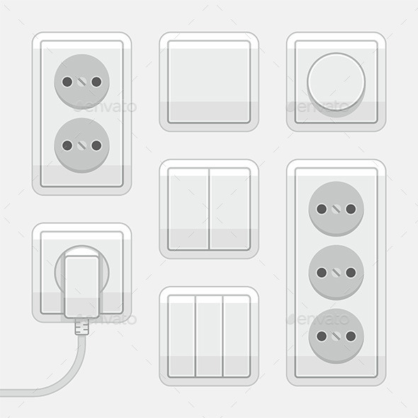 GraphicRiver Switches and Sockets 9868918
