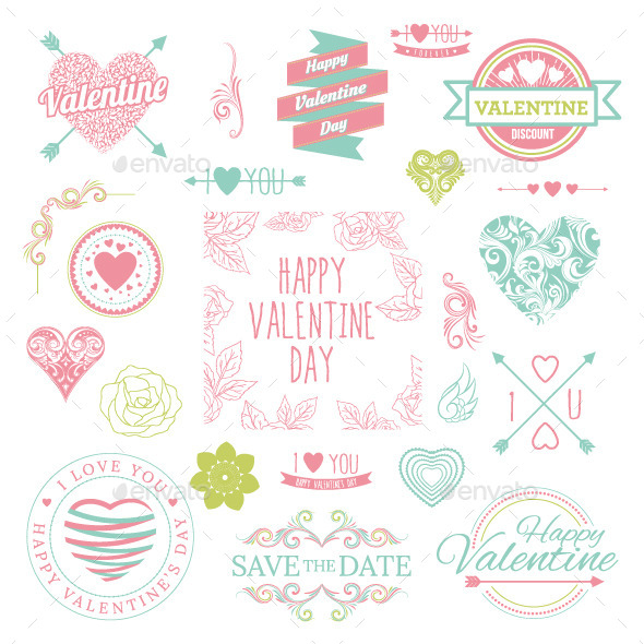 GraphicRiver Valentine Illustrations 9869089