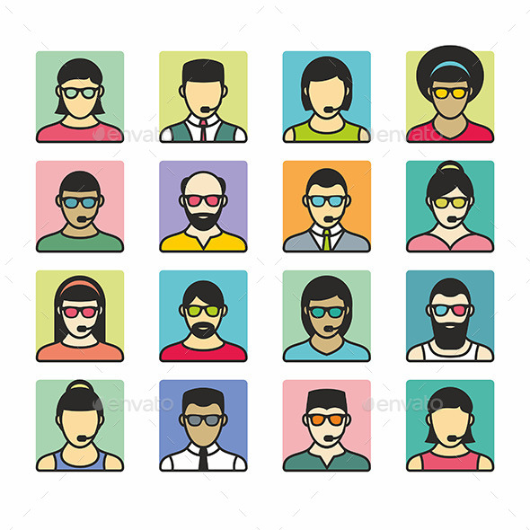 GraphicRiver People Icons 9869132