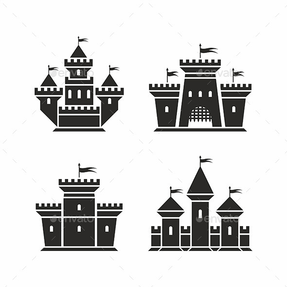 GraphicRiver Castle Icons 9869212