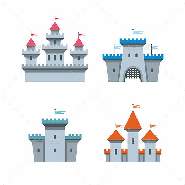 GraphicRiver Castle Icons 9869233