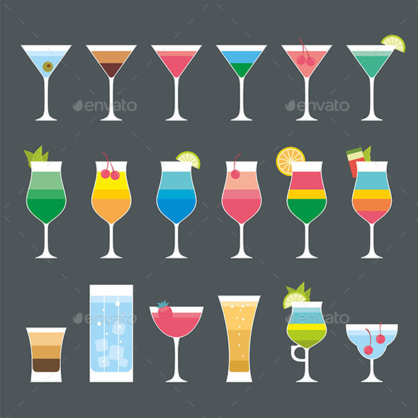 GraphicRiver Cocktail Set 9869242