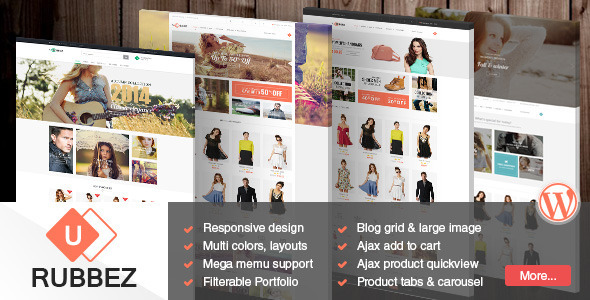 ThemeForest Rubbez- WooCommerce & Corporate Responsive Theme 9537633