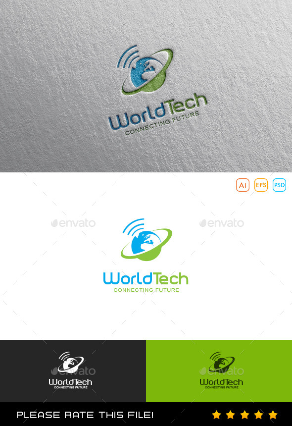 GraphicRiver World Tech Logo 9869476