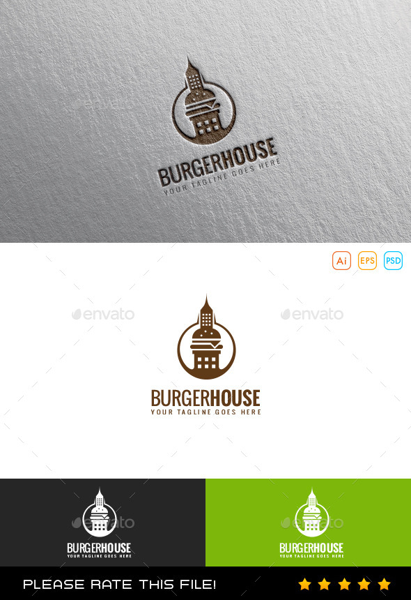 GraphicRiver Burger House Logo 9869853