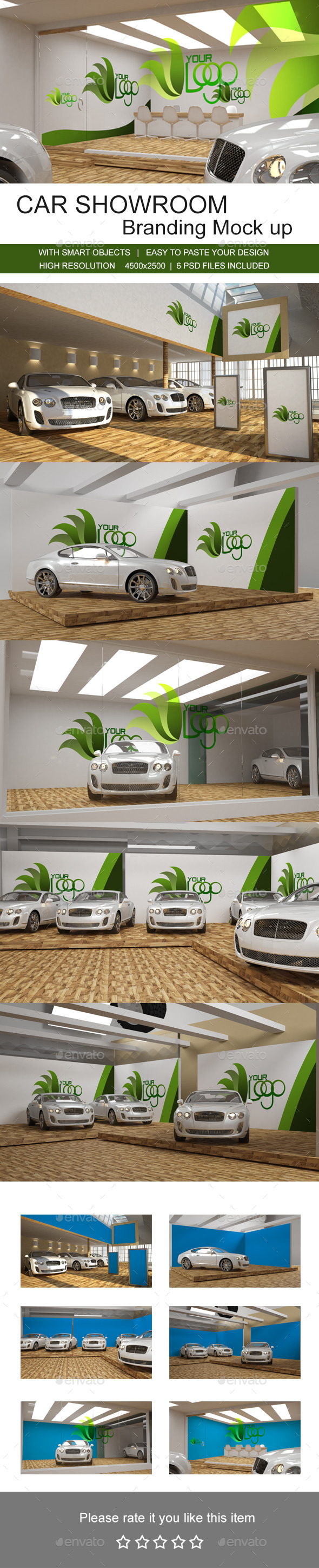 GraphicRiver Car Showroom Branding Mock up 9835377