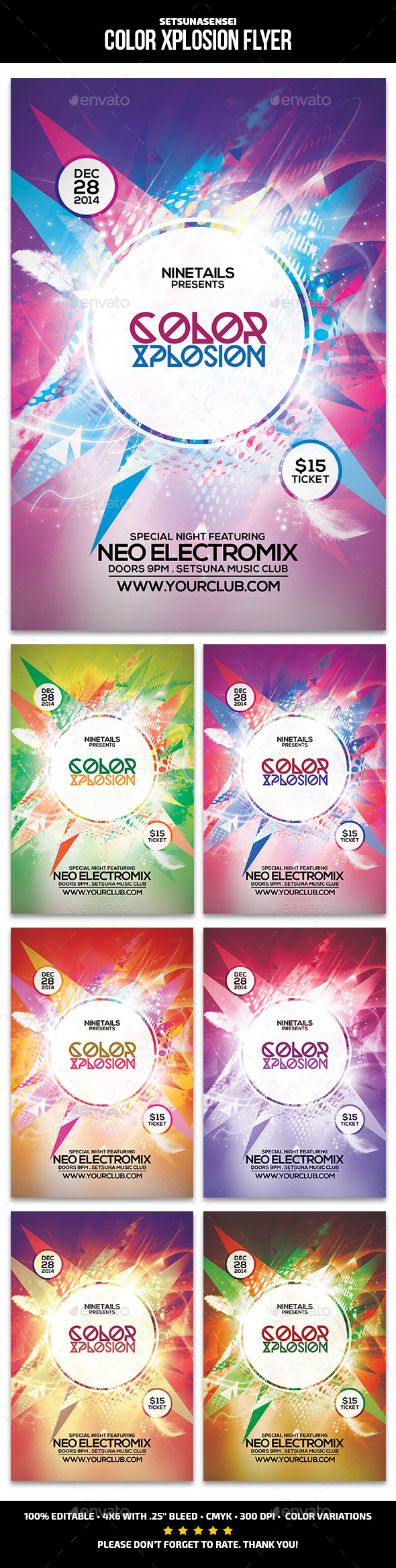 GraphicRiver Color Xplosion Flyer 9869900