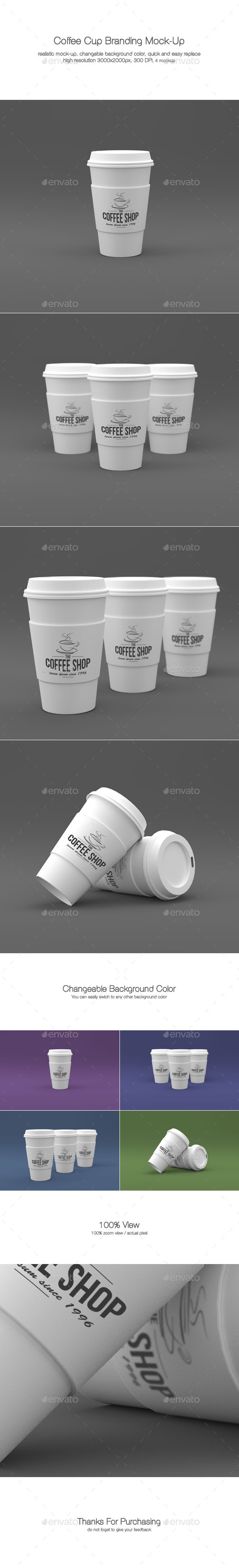GraphicRiver Coffee Cup Branding Mock-Ups 9870023