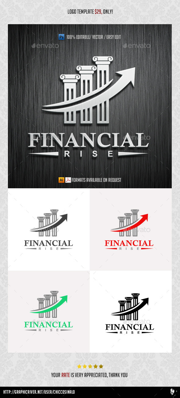 GraphicRiver Financial Rise Logo Template 9870035
