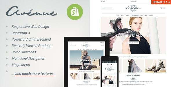 Avenue - Responsive Shopify Theme - Fashion Shopify