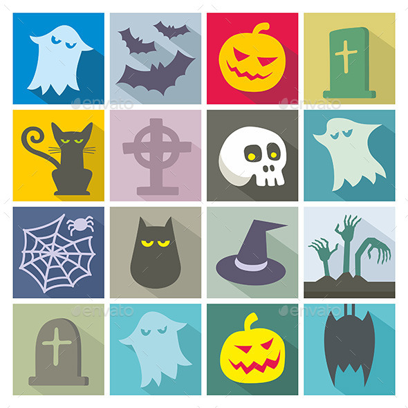 GraphicRiver Halloween Icons 9870087